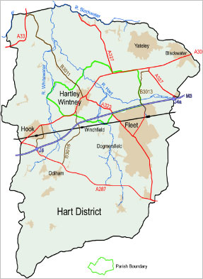 map of hart district